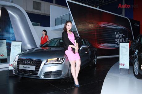 Hoa hậu Ngô Phương Lan – Audi A7 chiếc sedan tiện nghi, sang trọng