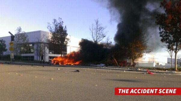 nh chụp hiện trường vụ tai nạn được đăng tải trên Twitter của TMZ